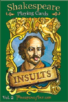 Shakespeare Playing Cards - INSULTS