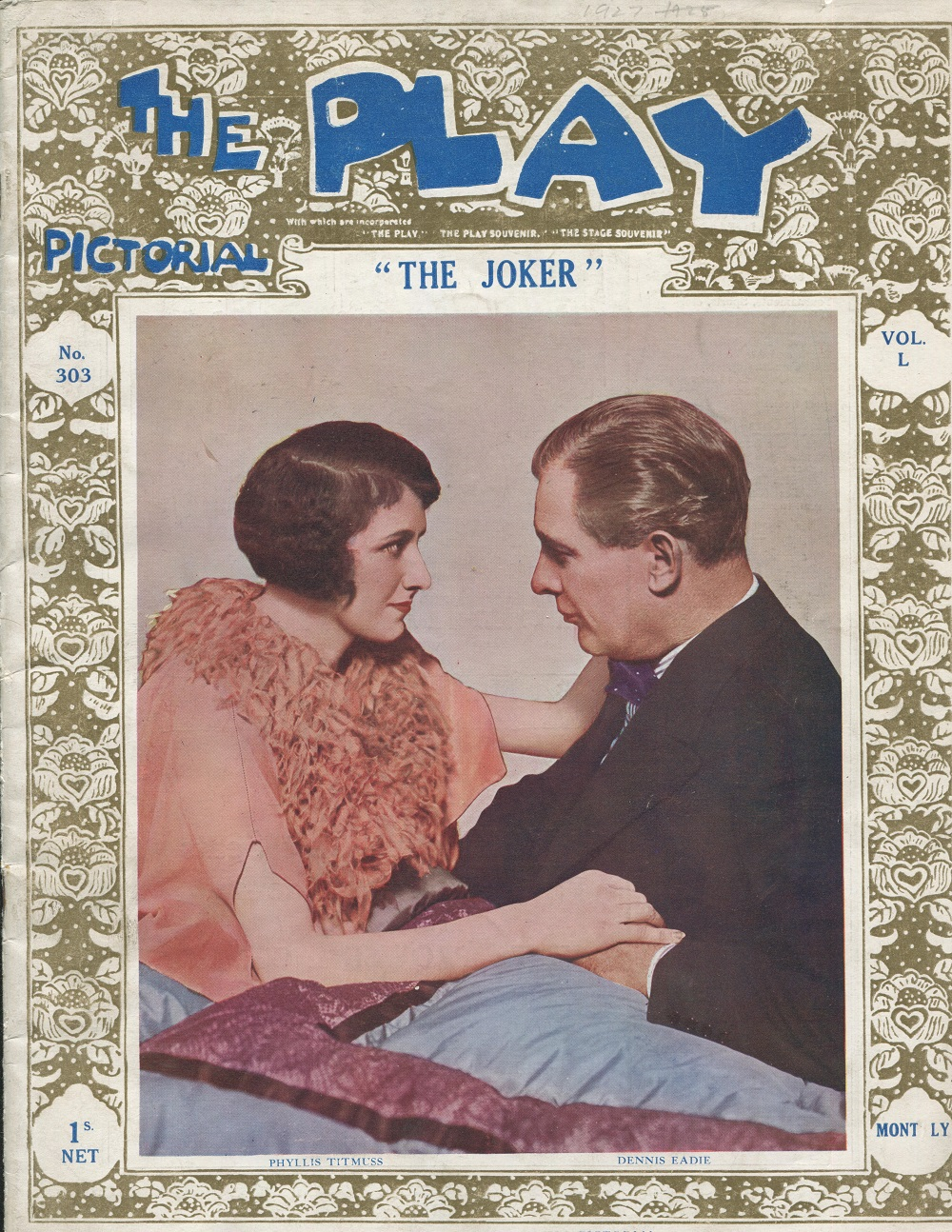 The Play Pictorial - No 303 - Vol L - June 1927 - 'The Joker' - vg