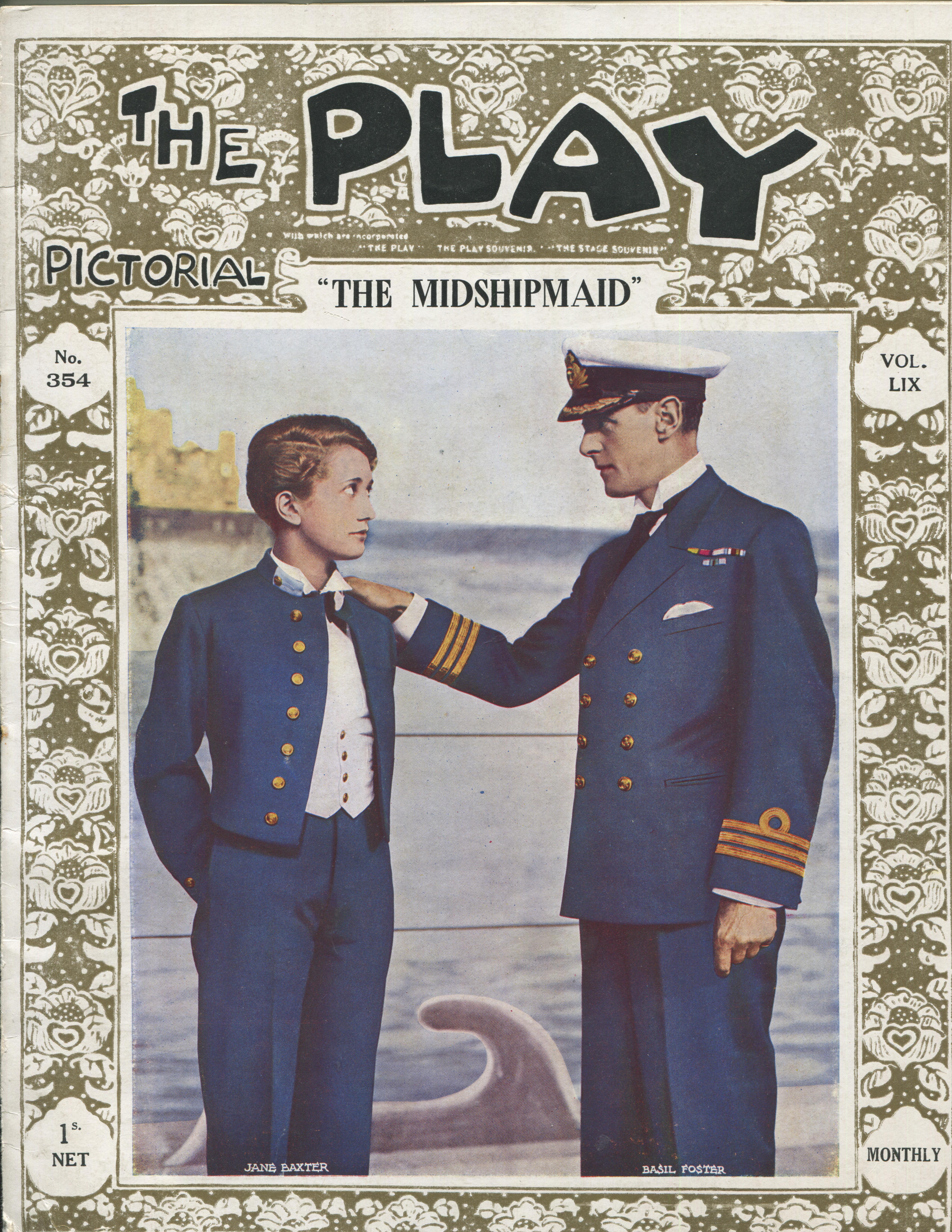 The Play Pictorial - No 354 - Vol IX - September 1931 - 'The Midshipmaid' - vg